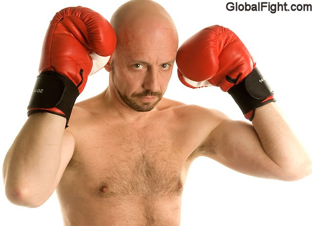 boxing guy bald boxer
