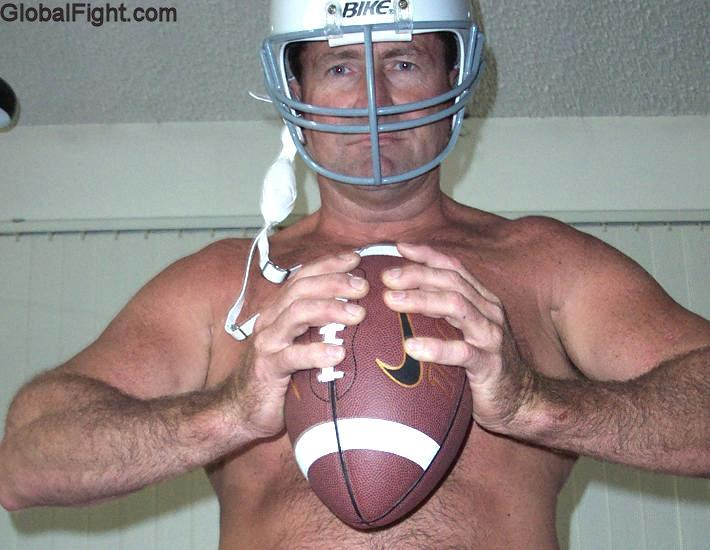 football player daddy bear coaching shirtless