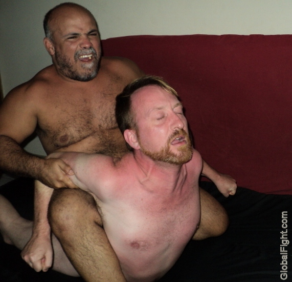 gay bear dominating bearded manly restrained men