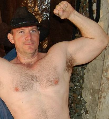 hairy handsome cowboy armpits