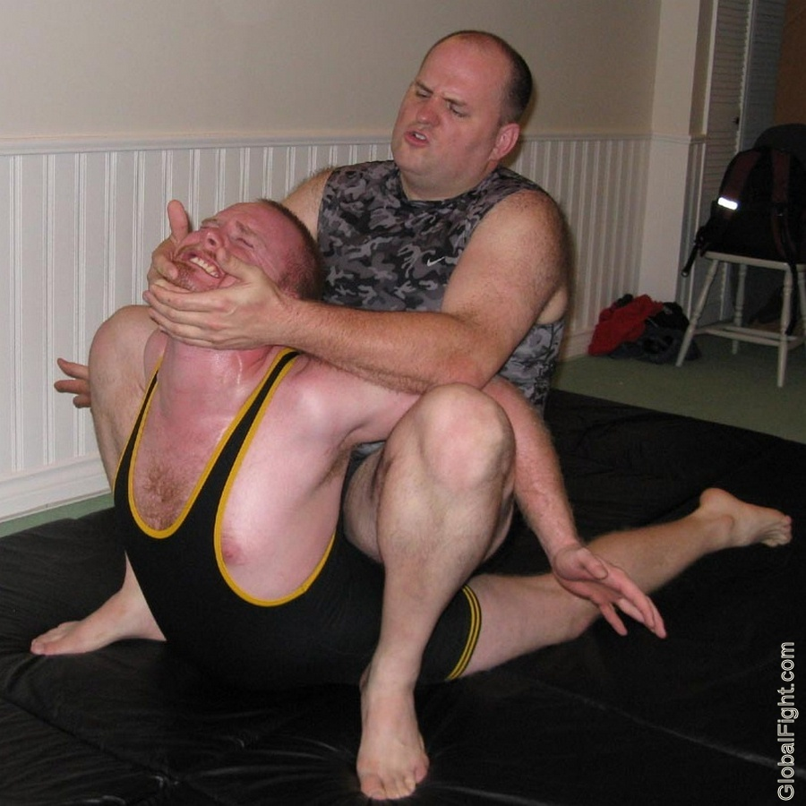 hairy redhead wrestling backbreakers grappling mma