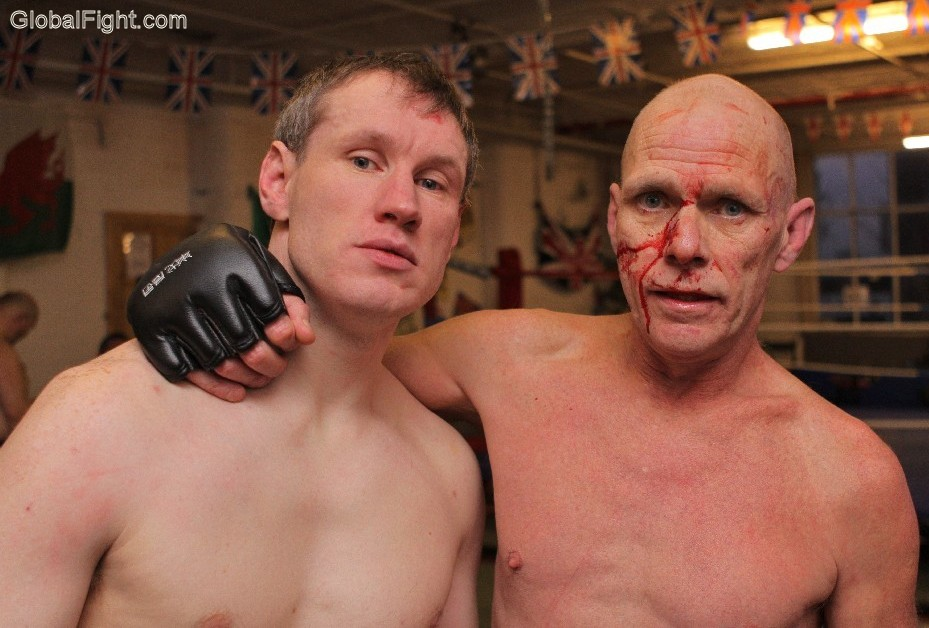 mma bloody boxers fighters high school wrestling coach with pupil
