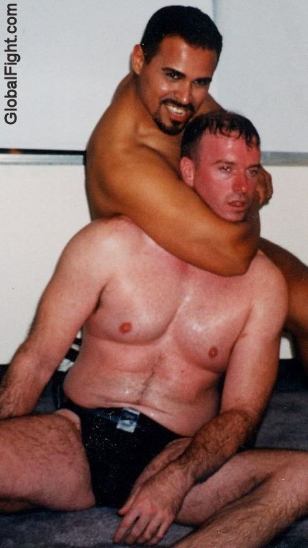 mma fighter choking out opponent hot slave boy