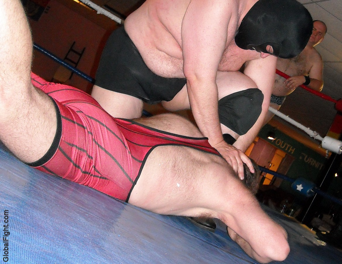 professional wrestling show event hairy mans back pushed