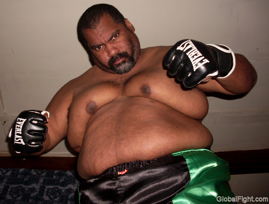 boxing huge black man