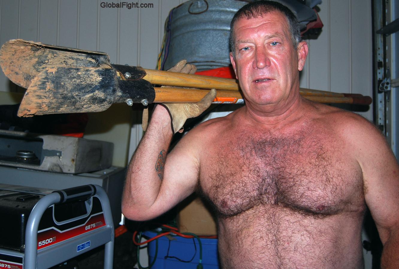 Gay man working